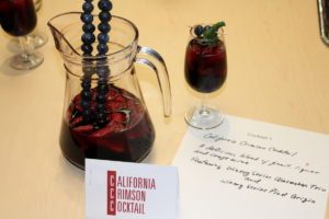 "RJS Craft winemaking cocktail party entry ""California Crimson Cocktail"""