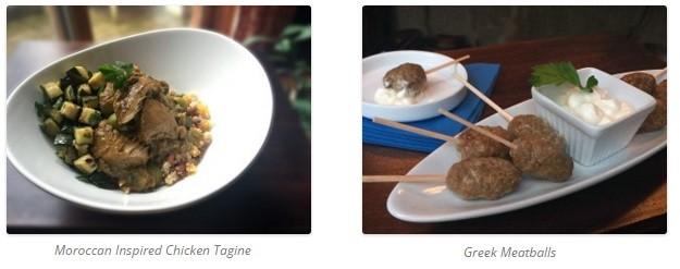 Greek meatballs and chicken tagine
